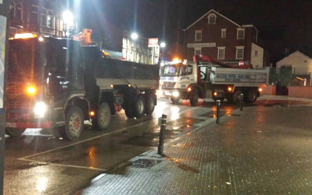 Tipper Hire & Grab Hire at Wigan North Western for Network Rail
