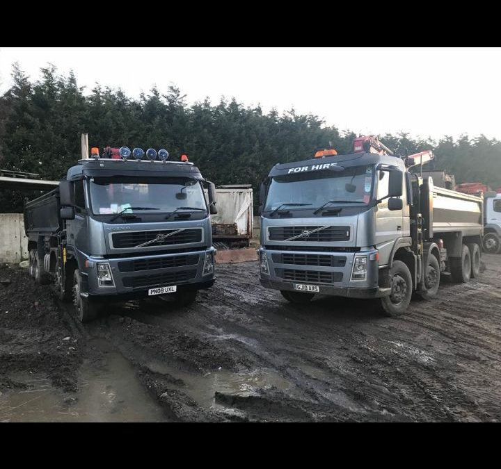 Tippers – Newly painted tippers added to the fleet